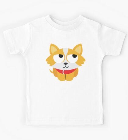 Corgi Emoji Thinking Hard and Hmm Look Kids Tee
