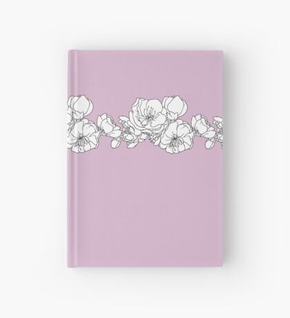 Pink and White Floral Hardcover Journal