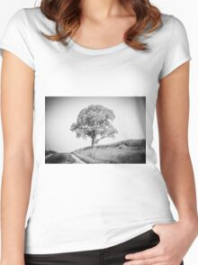 Lonely Tree Women's Fitted Scoop T-Shirt