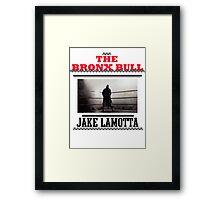 Bronx Bull Framed Print