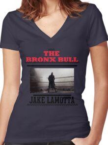 Bronx Bull Women's Fitted V-Neck T-Shirt