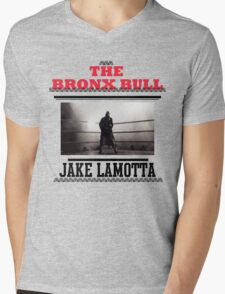 Bronx Bull Mens V-Neck T-Shirt