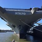 Intrepid Aircraft Carrier and Air and Space Museum, Hudson River, New York City by lenspiro