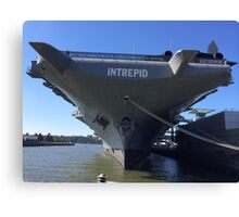 Intrepid Aircraft Carrier and Air and Space Museum, Hudson River, New York City Canvas Print