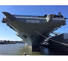 Intrepid Aircraft Carrier and Air and Space Museum, Hudson River, New York City Photographic Print