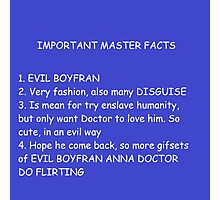 IMPORTANT MASTER FACTS Photographic Print
