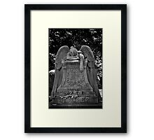 Weeping Angel.  Framed Print