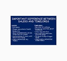 IMPORTANT DIFFERENCE BETWEEN TIMELORD AND DALEK Unisex T-Shirt