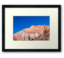 Colourful Mountains Framed Print