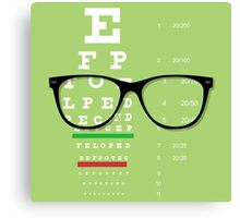 Eyeglasses Chart 01 Canvas Print