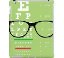 Eyeglasses Chart 01 iPad Case/Skin