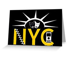 NYC icons collage Greeting Card