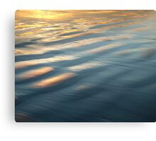 Blue water fading into yellow Canvas Print