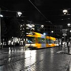 Late at night in Dresden Germany. by pdsfotoart