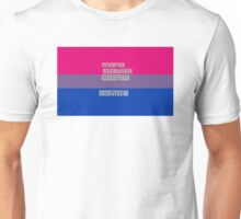 Let's get one thing straight, I'm not - bisexual flag Unisex T-Shirt