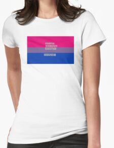 Let's get one thing straight, I'm not - bisexual flag Womens Fitted T-Shirt
