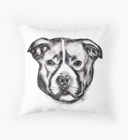Marley Pit Throw Pillow