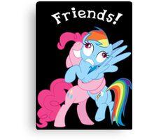 Rainbow Dash and Pinkie Pie Canvas Print