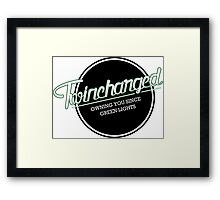 Twincharged - Owning you since green lights Framed Print