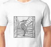 Crane wadding in water Unisex T-Shirt