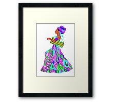 Drummer in a dress -Thalie Framed Print