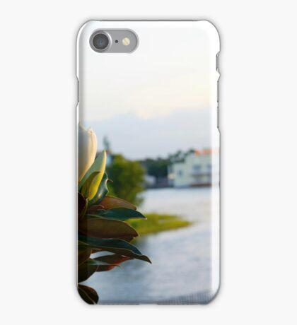 Magnolia at dusk iPhone Case/Skin