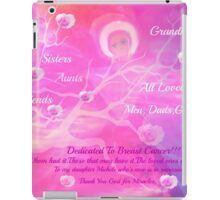 Angel For Breast Cancer- dedicated to Breast Cancer Month iPad Case/Skin