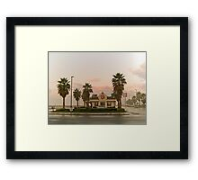 fast food sunrise Framed Print