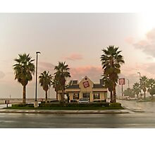 fast food sunrise Photographic Print