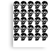 Black Skulls  Canvas Print