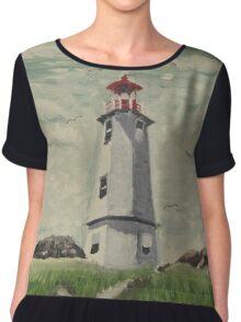 Louisbourg Lighthouse Chiffon Top