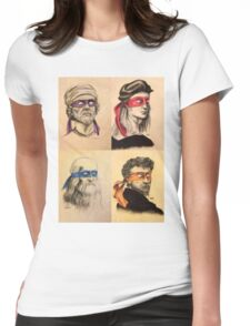 TMNT Tribute Womens Fitted T-Shirt
