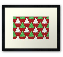 Red & Green Christmas Trees Framed Print