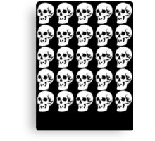 White Skulls Canvas Print