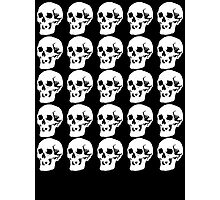 White Skulls Photographic Print