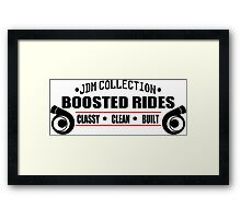 Boosted Rides Framed Print