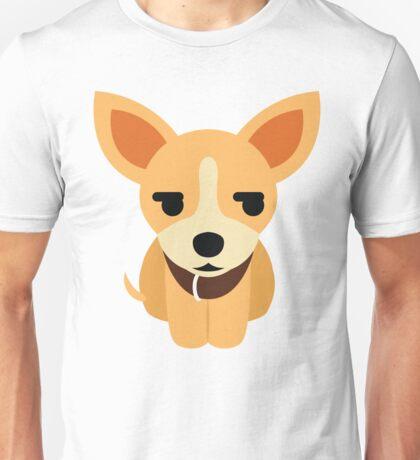 Chihuahua Emoji Secretly Unhappy Look Unisex T-Shirt