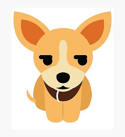 Chihuahua Emoji Secretly Unhappy Look Photographic Print