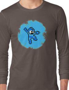Mega Man Jumps and Shoots Long Sleeve T-Shirt