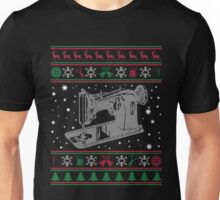 Sewing Ugly Christmas Sweater T-Shirt, Funny Tailor Gift Unisex T-Shirt