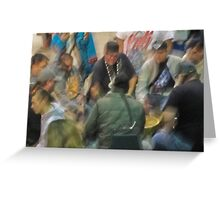 drum circle Greeting Card