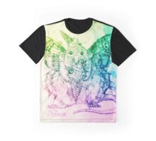 Rainbow Ice cream Butterfly Rat 'Butterat' Graphic T-Shirt