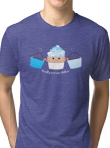 No Clothes Cupcake Tri-blend T-Shirt