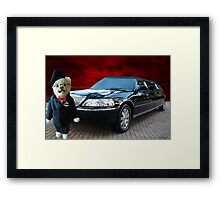 Teddy Bear Limousine Chauffeur Card/Picture Framed Print