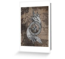Monochrome Compass Greeting Card