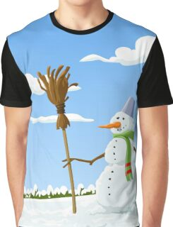 SNOW TIME WITH ICE MAN Graphic T-Shirt