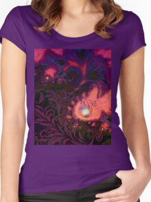 Tahitian Sunset sultry tropical Summer dreamscape Women's Fitted Scoop T-Shirt