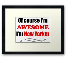 New York Is Awesome Framed Print