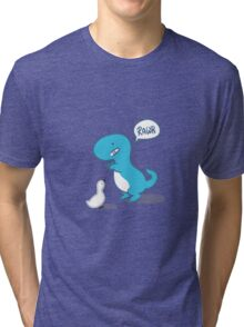 Dino and Duck Tri-blend T-Shirt