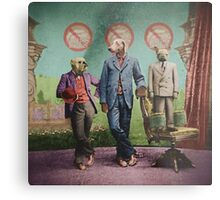The Three Distinguished Members of the Committee to Handle the Squirrel Problem Metal Print